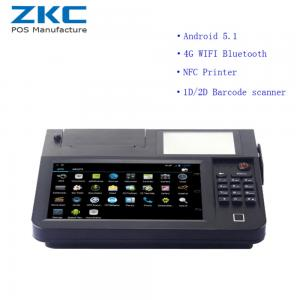 China ZKC800 Android 5.1 8inch desktop pos with 3g/4g,wifi,nfc/rfid,scanner,printer on sale