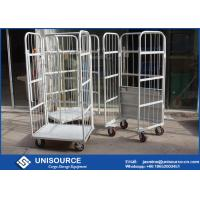 Galvanized Durable Steel Roll Containers Foldable Medium Duty With Loading Capacity