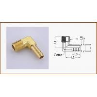 China Lead Free Brass Barb Fitting Male 90°Elbow Adapter For PEX AL PEX Pipe on sale