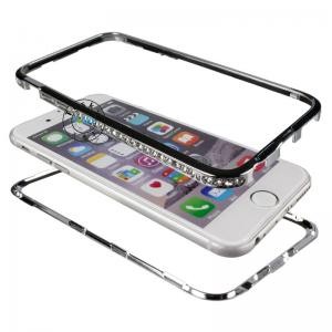 China Luxury diamond  bumper cases cover  for iPhone 6 Bling Metal Frame on sale