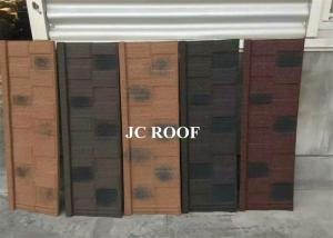 China Aluminum-zinc Material and Bent Tiles Type shingle stone coated steel roof sheet on sale