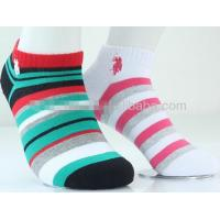 Colorful fashion striped design knitted cotton low cut dress socks for women
