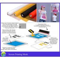 Polyester Screen Printing Mesh bolting cloth 100% poylester DPP120 yellow mesh