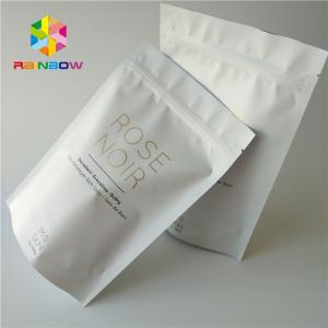 China White Plastic Stand Up Body Scrub Cosmetic Packaging Bag For Sea Salt Bathing Skin Care on sale