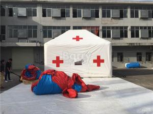 China Promotion White Red Cross Outdoor Medical Inflatable Tent With Logo Printing on sale