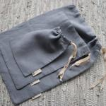 Zero Waste Flax Cord Hypoallergenic Linen Bread Bag