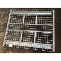 China Folding Industrial Hot - Dipped Galvanized Wire Mesh Container 1500kg Loading Capacity on sale