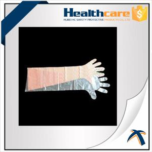China Dustproof Disposable Hand Cloves , Full Arm Disposable Food Service Gloves  on sale