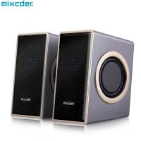 China Mixcder Portable Wired Slip-Proof Surround Sound USB 2.0 Multimedia Speaker With Bass for Computer PC Laptop Desktop on sale