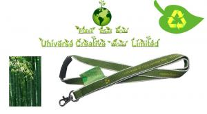 China OEM Bamboo ECO Friendly Lanyards With Organic Cotton Material on sale