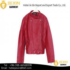 China Hot Sexy Lady Red Motorcycle PU Leather Jacket on sale