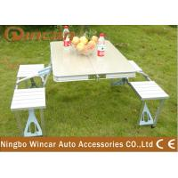 China Vehicle Camping Folding Table and Chair Set , Folding Picnic Tables on sale