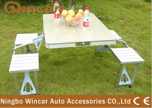 Vehicle Camping Folding Table And Chair Set Folding Picnic Tables - Picnic table supplier