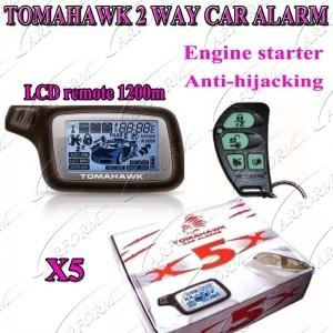 China Auto Accessories Electronics 2 Way Paging Car Alarm System,TOMAHAWK Russian Version X5 on sale