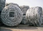 Dia 2.5mm Hot Dip Galvanized Barbed Wire With 4 Points