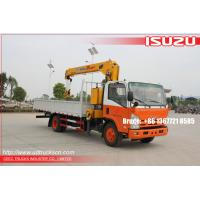 ISUZU Hydraulic Lifting Telescopic Boom Truck Crane XCMG Mounted With 5000 kg Crane