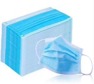 China Health Care 3 Ply Non Woven Face Mask  Non Irritating Breathable Single Use on sale
