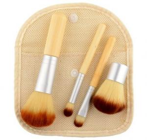 China Wholesale 4 in 1 Bamboo Make up Brush on sale