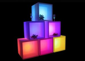 China 40X40X40cm LED Cube Light Open Cube Back Bar Ice Bucket For Drink Dispaly on sale