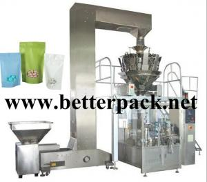 China automatic coffee beans granule doy pack machine stand up pouch packaging line on sale