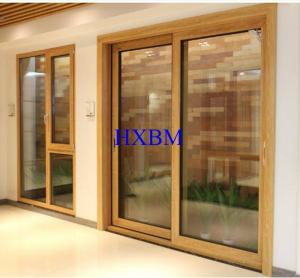 China Triple Glazed Solid Wood Windows And Doors Highly Pressure Resistant on sale