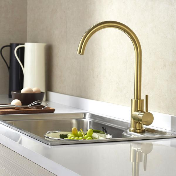 Sink Mixer Gold Brass Color 304 Stainless Steel Kitchen Faucet With Hot Cold Funtions For Sale Colourful Faucet Manufacturer From China 109647169