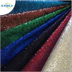 Garment Glitter Leather Fabric Customized Color Size Elegant For Handbags