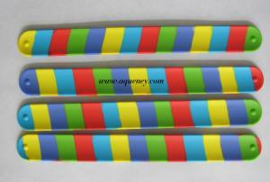China Hot selling silicone crazy slap bands, silicon slap bracelets, silicon slap wristbands with various color on sale