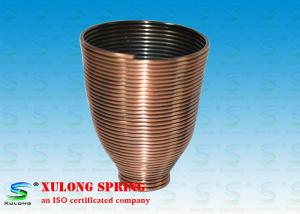 China Steel Copper Plating Display Specialty Springs Cup Shaped Left Direction on sale