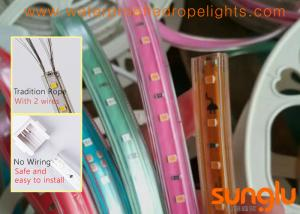 China 220V No Wire 2835 60D  LED Rope Light ,RED Blue Gold Green FPC LED Strip Light on sale