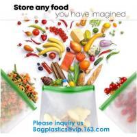 FDA Approved Zip Lock Bags Food Packaging Zipper peva Reusable Ziplock Sandwich Bag,Eco-Friendly Soft Clear PEVA Bag Wit