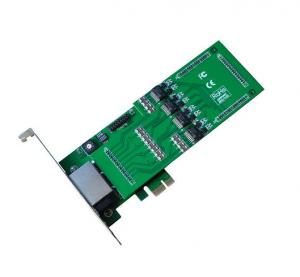 China Clear voice!TE430E quad span asterisk digital card for telephony on sale