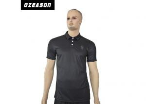 China Plain Sports Polo Shirts Digital Sublimation Sweat Releasing Wash Easily on sale