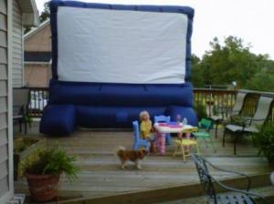 China inflatable outdoor movie screen MS-013 on sale