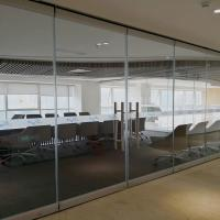 Frameless Glass Office Furniture Partitions Operable Walls For Conference Room