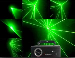 China 30w Sound active Pub Stage Disco Laser Light of 120 degree , Green 532nm on sale