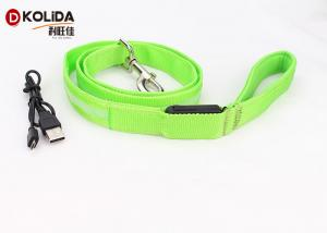 China USB Rechargeable 47.2 Inch 120cm Led Light Dog Leash Night Safety Pet Leash Neon Green on sale