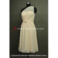 NEW!! Short Bridesmaid dress One shoulder evening Bridal gown #BR126