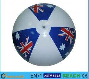 China Eco Friendly Global Inflatable Beach Ball 12'' Diameter Classic Colorful Design on sale