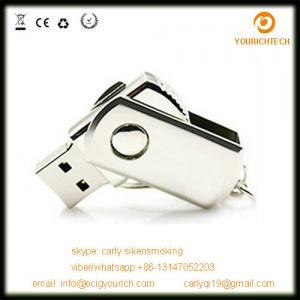 China Wholesale promotional metal swivel usb flash drive on sale