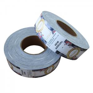 China Swing Roll Custom Garment Tags , Clothing Brand Labels Removal Ink Non Fade on sale