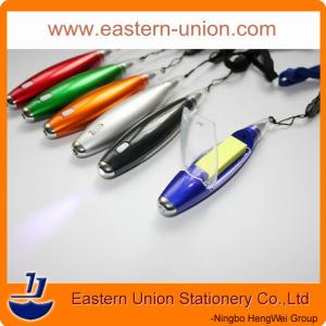 China 2014 hottest styles multi-functional pens with string,sticky notes and light on sale