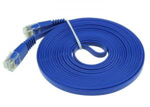 China Flat Ethernet LAN Network Data Cable Flame Resistant Polyethylene Insulation Material on sale