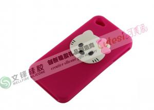 China Wholesale Mobile Phone Cases For iPhone4 Silicone Cases Cover With Kitty Shape on sale