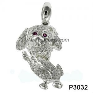 China Black Sapphire 925 Silver Gemstone Jewelry , Rhodolit Gemstone Jewelry Pendant on sale