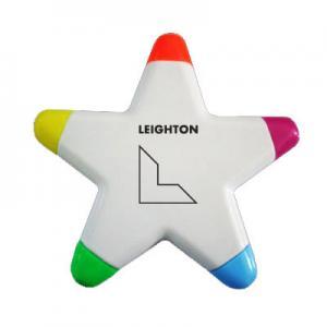 China five color highlighter marker, star shape highlighter marker pen on sale