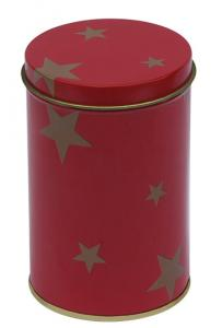 China Red Color Tin Tea Canisters , Round Tea Tin Box With Dia72 x 112hmm on sale