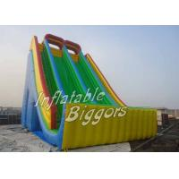 Backyard Giant Kids Inflatable Slides Bouncy PVC For Kids / Adults