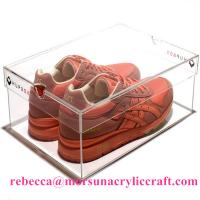 Eco-friendly High Quality Acrylic Shoe Box Plastic Shoes Display Rack
