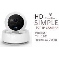 IR Audio Wireless Indoor IP Camera PTZ , Wifi Security Cameras For Home